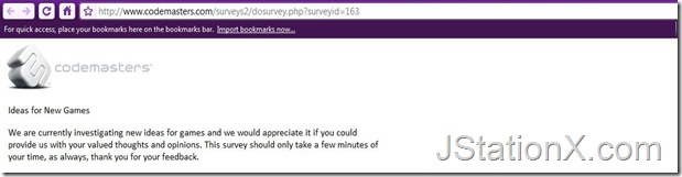 Codemaster's Survey Screenshot 1