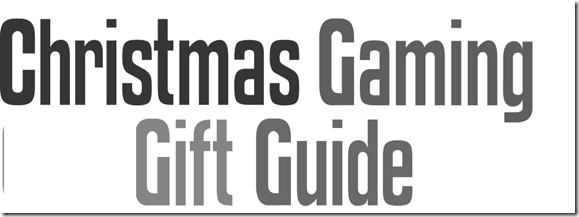 Christmas Gaming Gift Guide - made with wordle .net