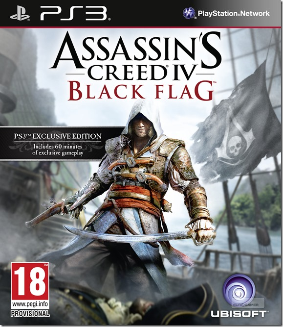 Assassin's Creed 4 Black Flag PS4 Box Art
