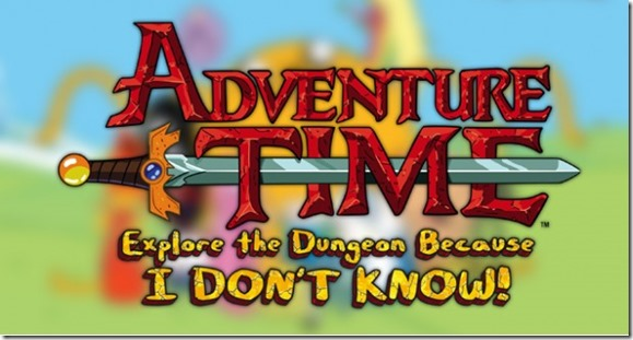 Adventure Time Explore The Dungeon Because I Don't Know! logo