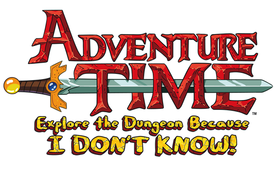 Adventure Time Explore the Dungeon Because I Don't Know logo