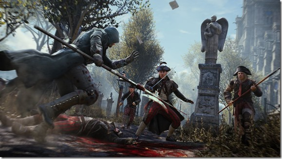 Assassin's Creed Unity combat screenshot
