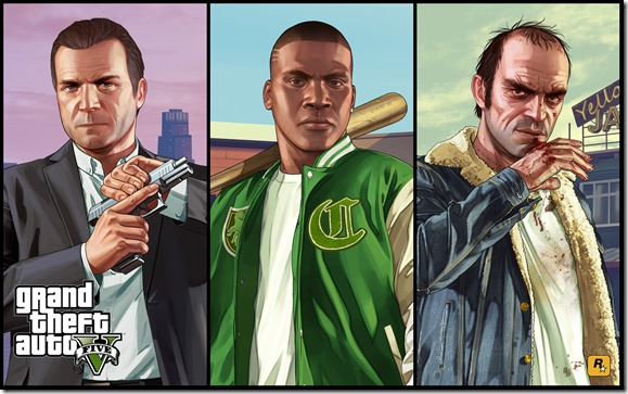 GTA V Artwork Characters