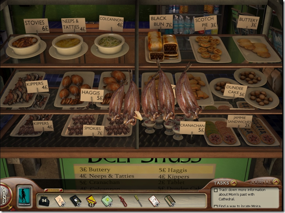 Nancy Drew The Silent Spy Scottish food screenshot