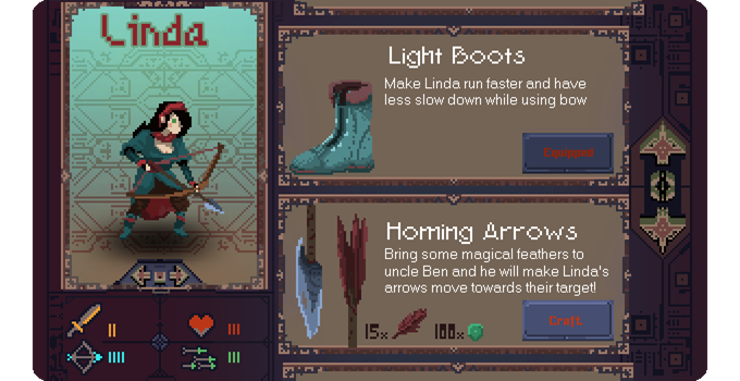 Children of Morta crafting menu