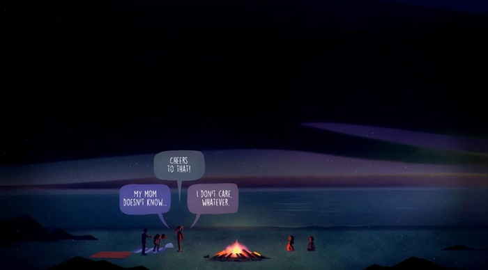Oxenfree screenshot dialogue