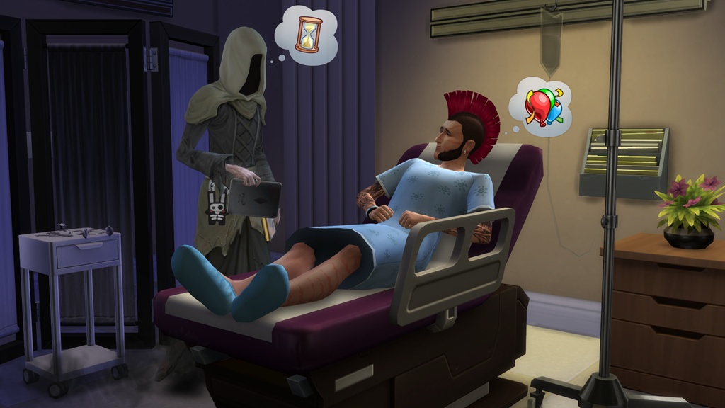 The Sims 4 Get to Work Grim Reaper