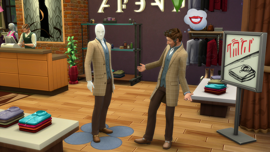 how to change work clothes in sims 4