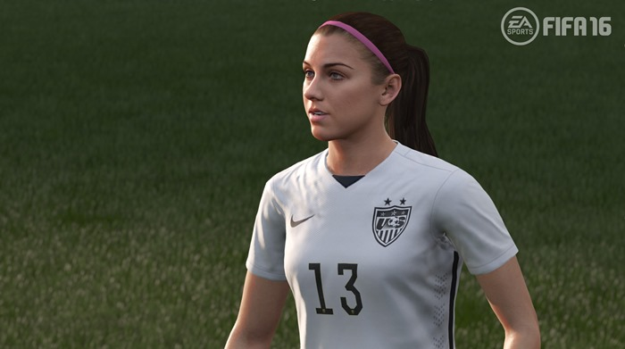FIFA 16 screenshot women - Alex Morgan