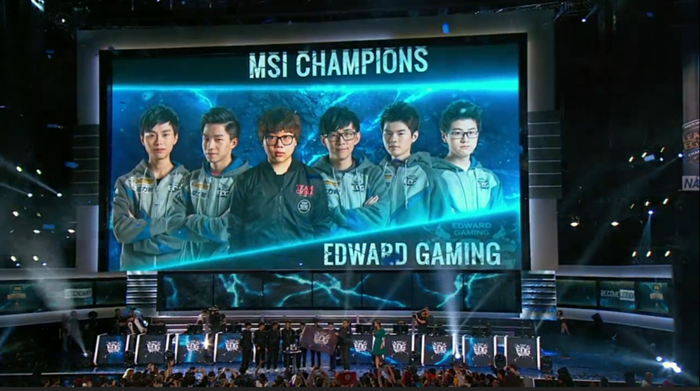 MSI 2015 Winners Edward Gaming