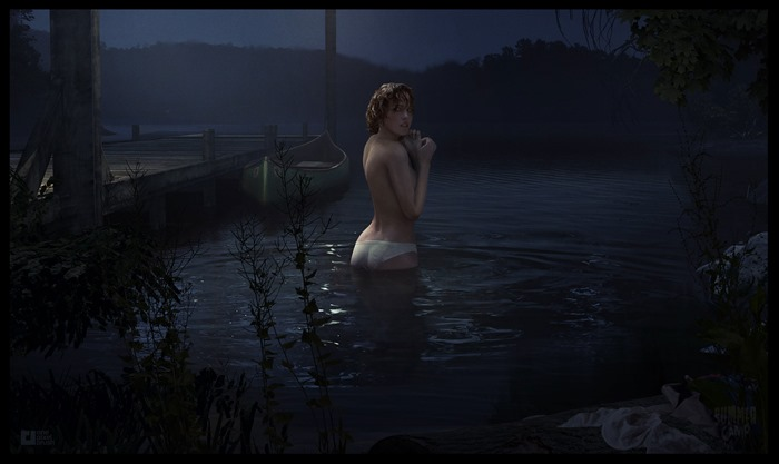 Summer Camp screenshot skinny dipping