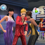 The Sims 4 Luxury Party Stuff pack selfie screenshot