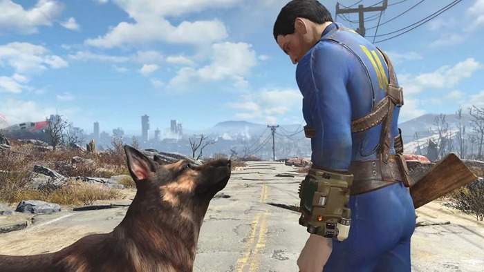 Fallout 4 screenshot character dog