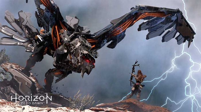 Horizon Zero Dawn screenshot winged robot