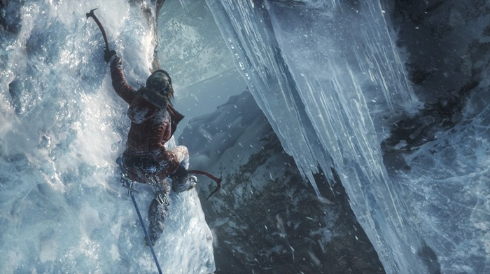 Rise of the Tomb Raider screenshot ice climb cliff