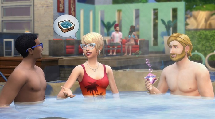 The Sims 4 Perfect Patio Stuff hot tub screenshot