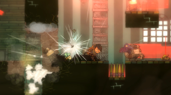 The Swindle screenshot explosion