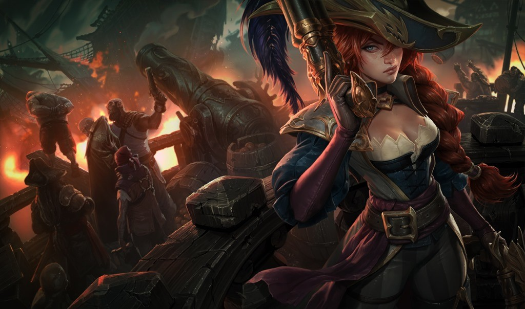 League of Legends Captain Fortune skin wallpaper