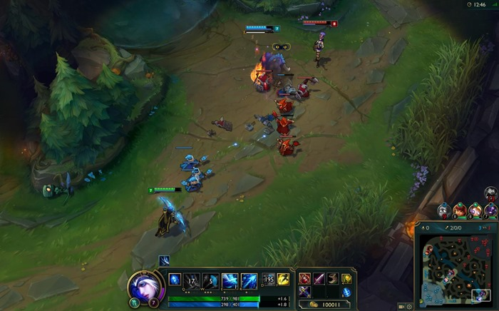 League of Legends HUD update screenshot
