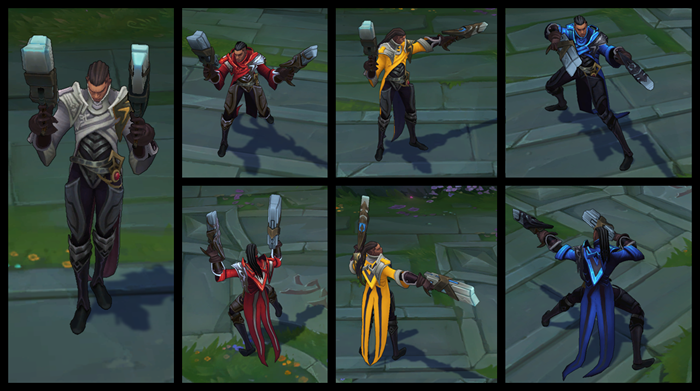League of Legends Lucian chroma pack screenshot
