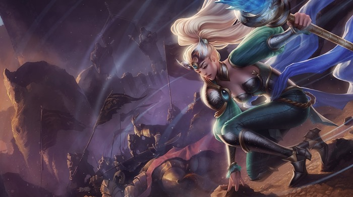 League of Legends Victorious Janna skin splash screen