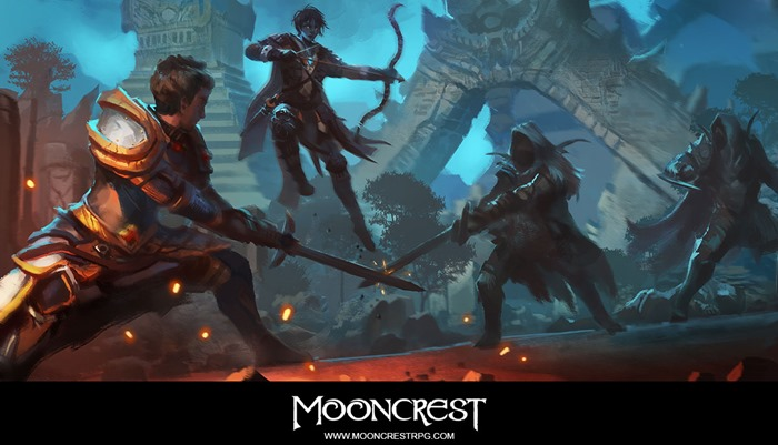 Mooncrest game concept art