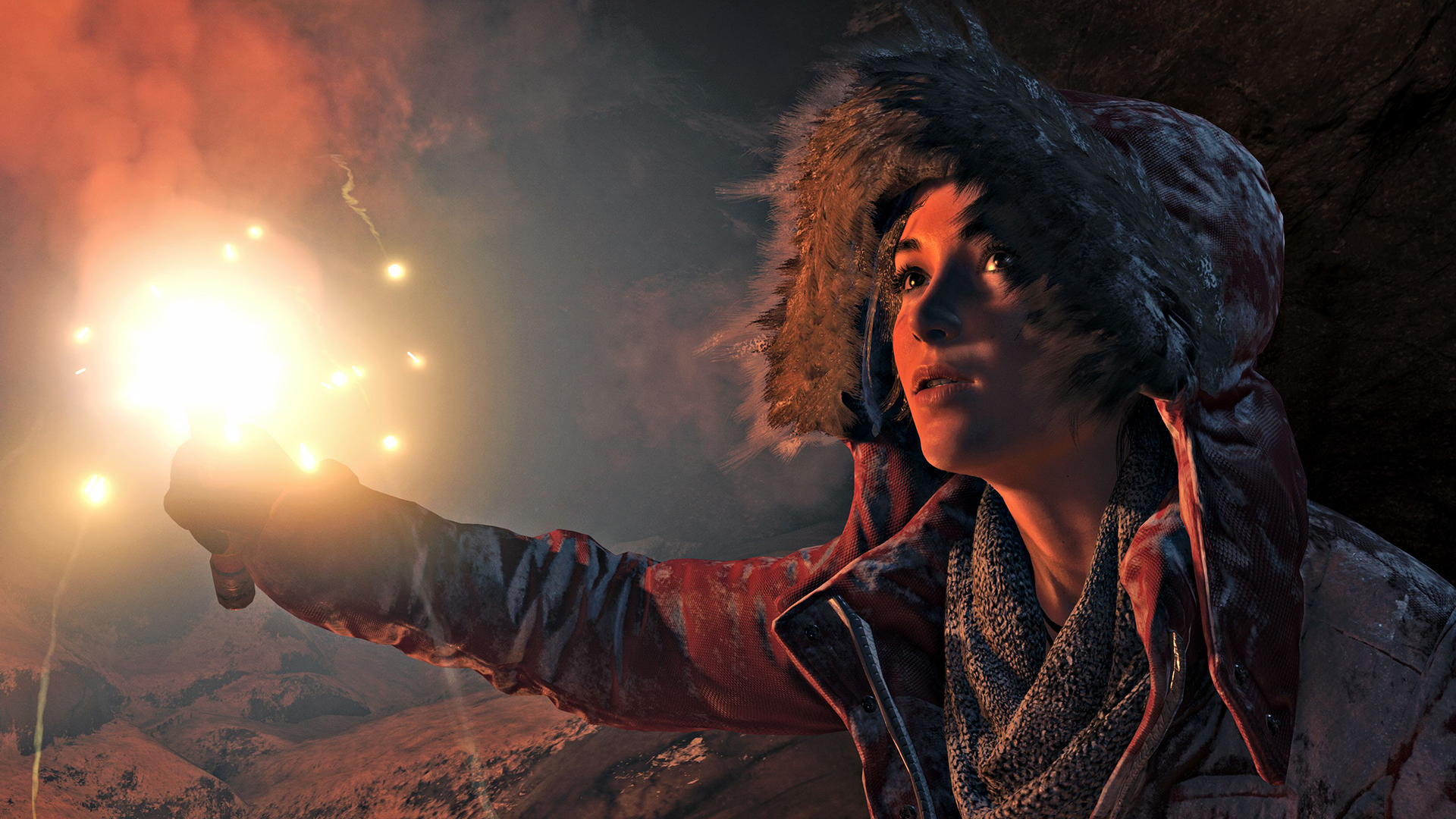 Rise of the Tomb Raider screenshot Lara Flare