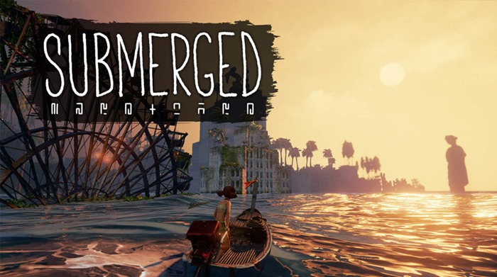 Submerged game logo
