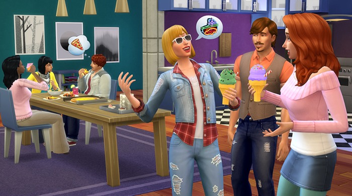 The Sims 4 Cool Kitchen Stuff screenshot ice cream