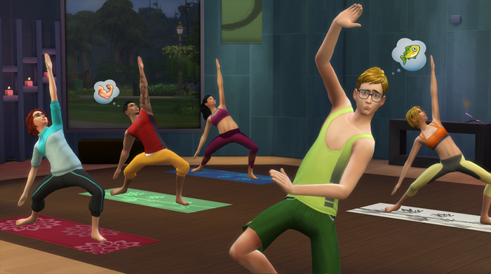 The Sims 4 Spa Day screenshot yoga