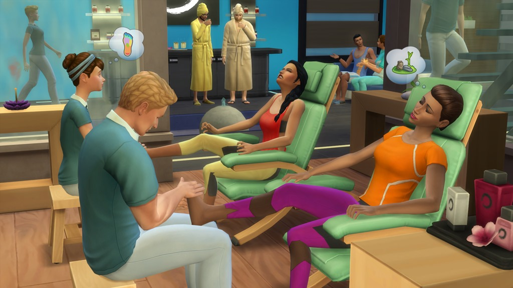 The sims 4 spa day game pack announced j station x for Chaise game free download