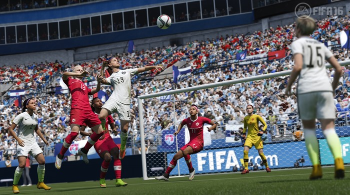 FIFA 16 screenshot women's international USWNT vs CANWNT