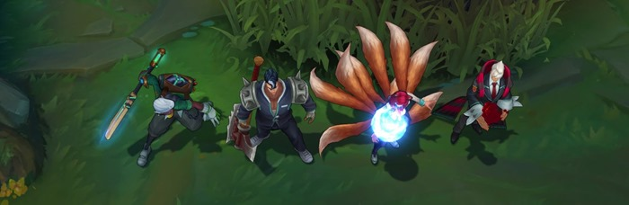 League of Legends Academy Ekko Darius Ahri Vladimir skins screenshot