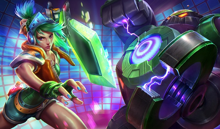 League of Legends Arcade Riven Battle Boss Blitzcrank splash screen