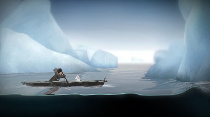 Never Alone Foxtales screenshot canoe on water