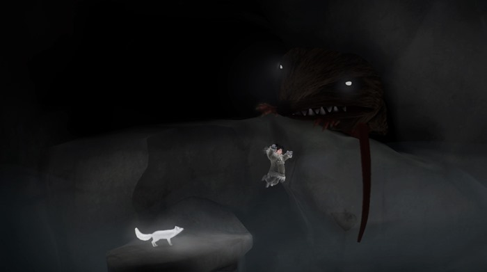 Never Alone Foxtales screenshot giant mouse