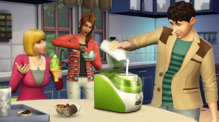 The Sims 4 Cool Kitchen Stuff screenshot ice cream maker