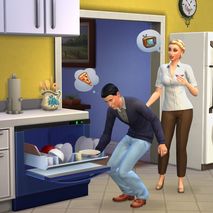 The Sims 4 dishwasher