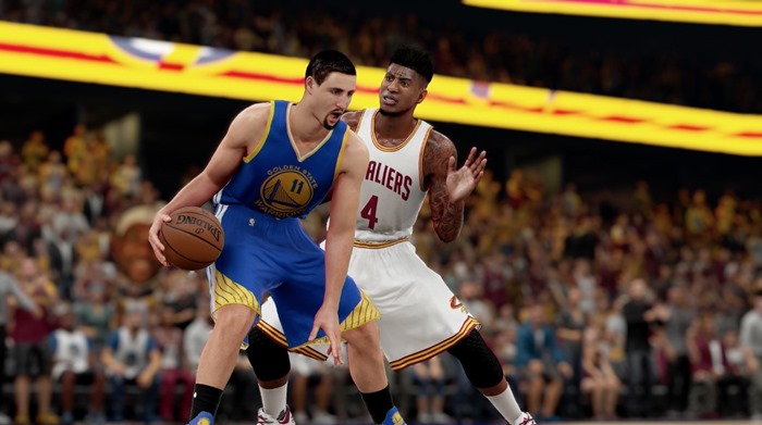 NBA 2K16 screenshot Warriors v Cavs