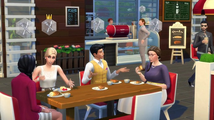 The Sims 4 Get Together screenshot café