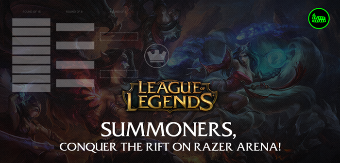 League of Legends Razer Arena support and Amateur prize pool