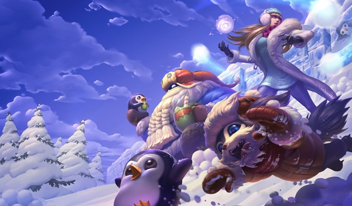 League of Legends Snowdown 2015 Snow Day skins wallpaper