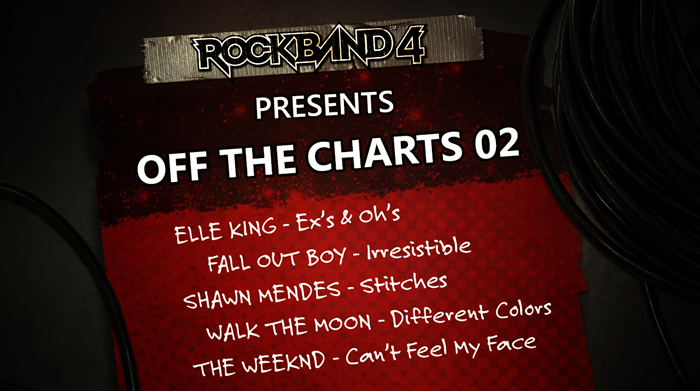 Rock Band 4 Off The Charts 02 DLC The Weeknd, Shawn Mendes and more