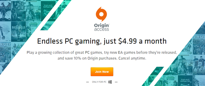 EA launches Origin Access PC game subscription service