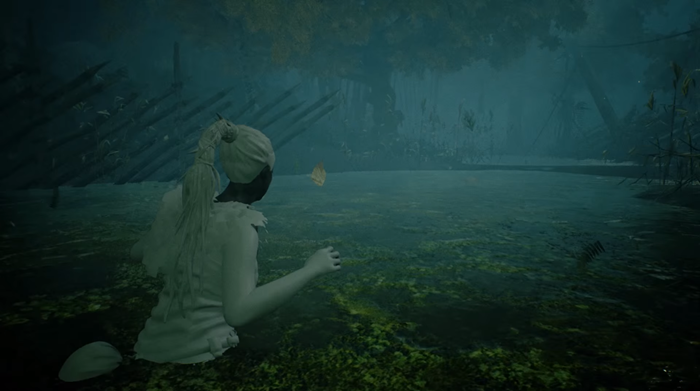 Hellblade Senua in water