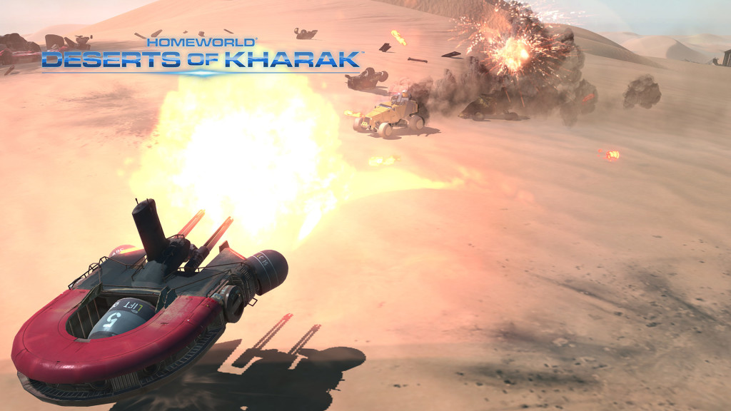 Homeworld Deserts of Kharak screenshot explosion