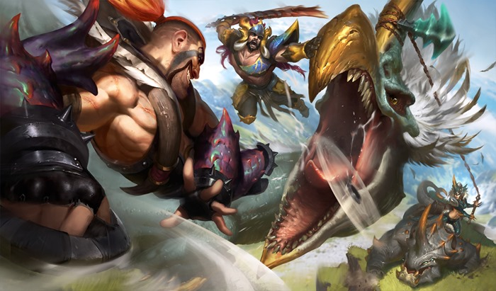League of Legends Beast Hunter skins wallpaper