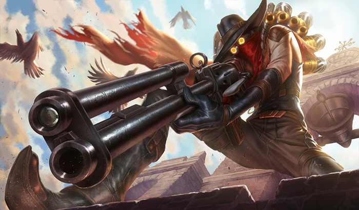 League of Legends High Noon Jhin skin wallpaper