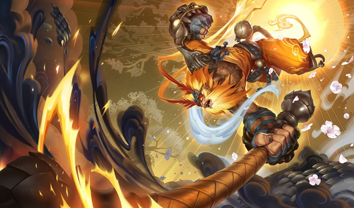 League of Legends Radiant Wukong splash wallpaper