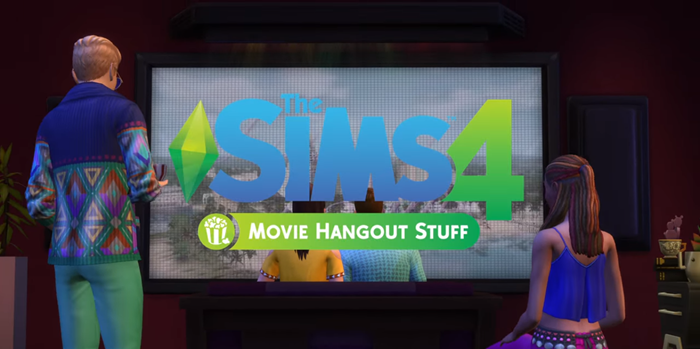 The Sims 4 Movie Hangout Stuff pack
